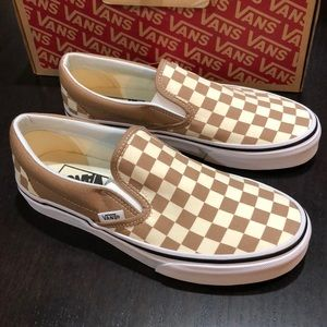 Vans Classic Slipon Checkerboard Tigers